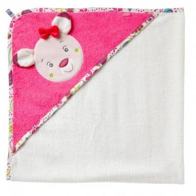 fehn badcape hert roze  wit 80 cm 307762 1564732797