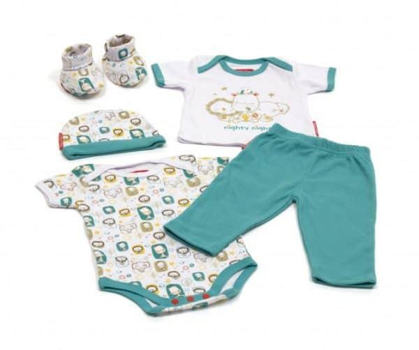 fisher price babykleding in giftbox 5 delig blauw 223991