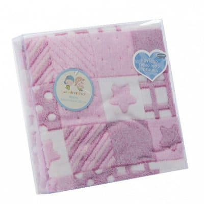 gamberritos babydeken 10003b fleece 80 x 110 cm roze 361784 1581330644