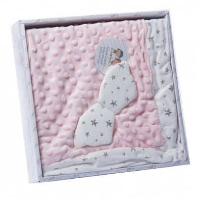 gamberritos babydeken bolletjes 80 x 110 cm roze 384325 1587042570