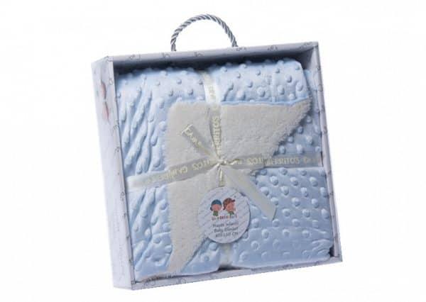 gamberritos babydeken fleece 80 x 110 cm blauw wit 353872 1579270300 1