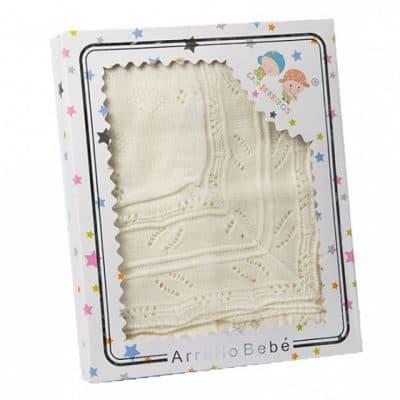gamberritos babydeken gebreid 75 x 100 cm acryl beige 361730 1581327704