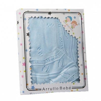 gamberritos babydeken gebreid 75 x 100 cm acryl blauw 361726 1581327548