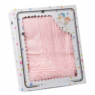 gamberritos babydeken gebreid 75 x 100 cm acryl roze 361735 1581327939