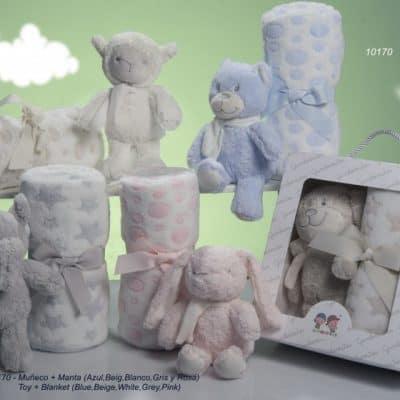 gamberritos babydeken gestipt met knuffel 80 x 110 cm fleece beige 2 365319 20200226134603