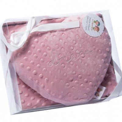 gamberritos babydeken met hartjesdeken 80 x 110 cm paars 386461 1587461929
