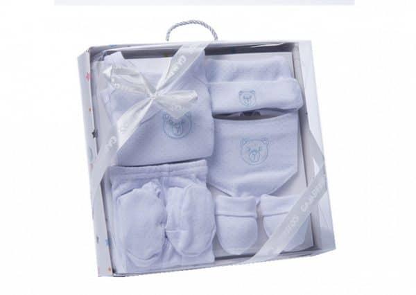 gamberritos babykledingset beertje wit blauw one size 6 delig 359816 1580825543