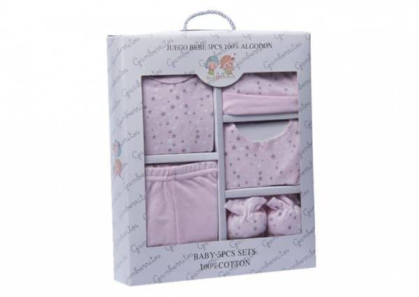 gamberritos babykledingset sterren roze one size 5 delig 359851 1580827704