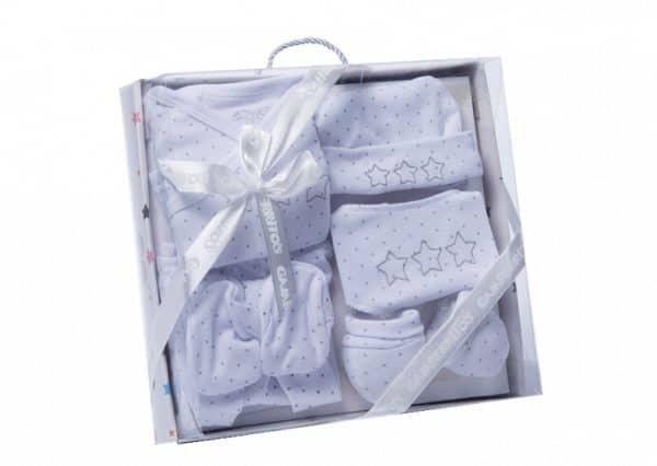 gamberritos babykledingset sterren wit grijs one size 6 delig 359840 1580826897