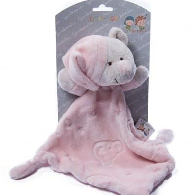 gamberritos knuffeldoekje 23 cm beertje roze 355152 1579677307