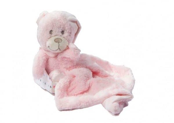gamberritos knuffeldoekje 23 cm beertje roze 361208 1581087431