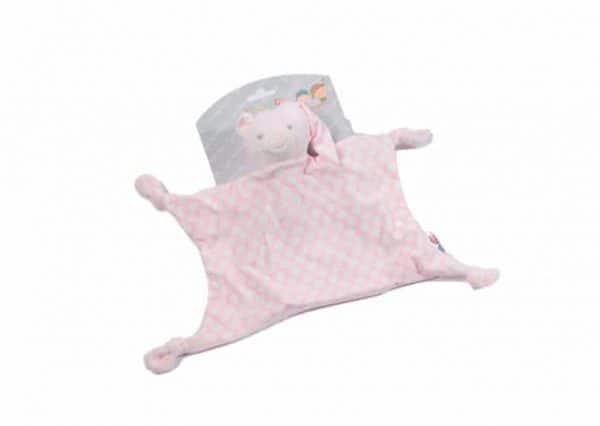 gamberritos knuffeldoekje beer 23 cm stippen roze 365253 1582710418