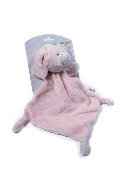 gamberritos knuffeldoekje beertje 23 cm sterren roze 354466 1579529967