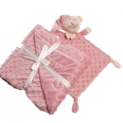 gamberritos knuffeldoekje en deken 80 x 110 cm donker roze 384199 1587036919