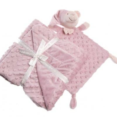 gamberritos knuffeldoekje en deken 80 x 110 cm roze 384208 1587037314
