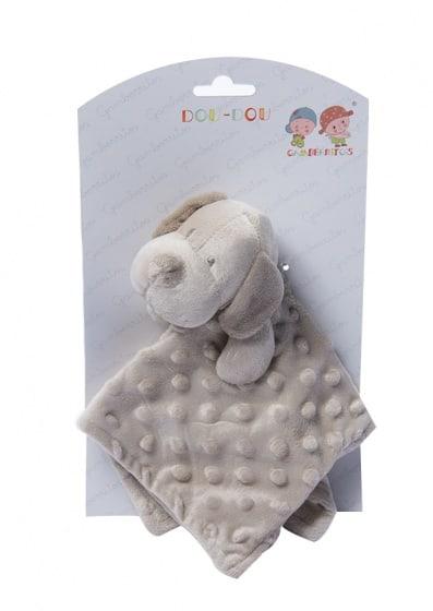 gamberritos knuffeldoekje hond 23 cm beige 354643 1579592907