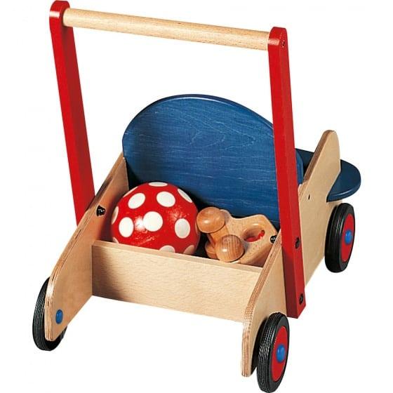 haba houten loopwagen 50 cm blauw rood 313404 1566916061
