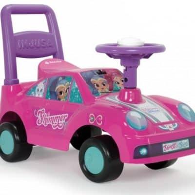 injusa loopauto shimmer en shine 60 cm roze paars 227962