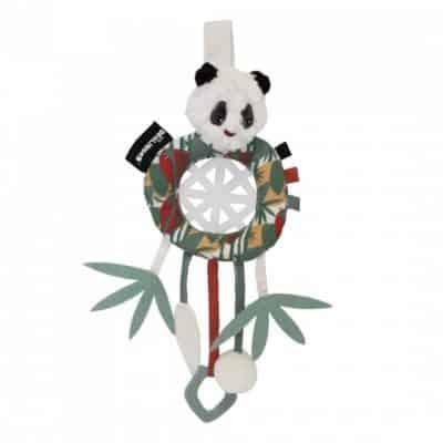 les deglingos dromenvanger panda wit groen 34 cm 380819 1586504758
