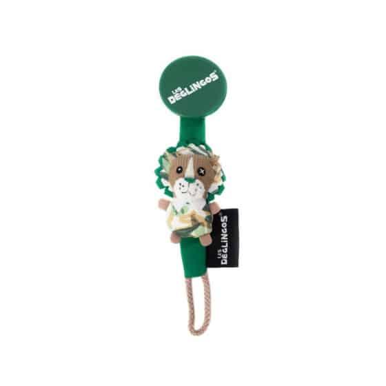 les deglingos fopspeenketting leeuw groen 20 cm 380990 1586510920
