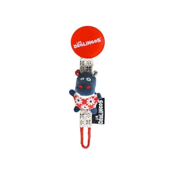 les deglingos fopspeenketting nijlpaard blauw 20 cm 380982 1586510674