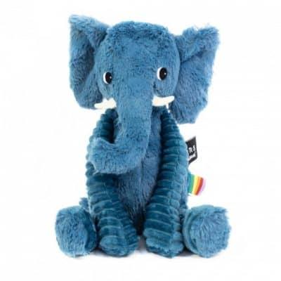 les deglingos knuffel olifant blauw 20 cm 381923 1586763158