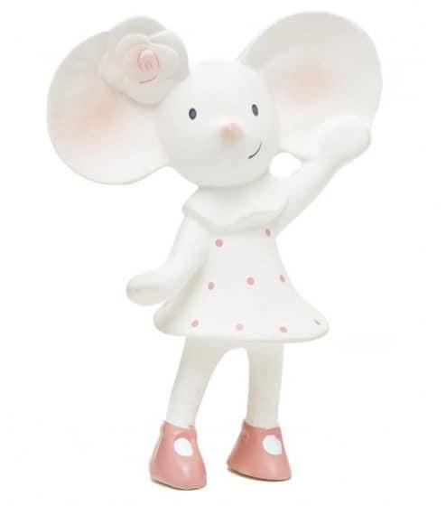 meiya alvin knijp  en bijtknuffeltje meiya de muis wit roze 16 cm 204557 20181217092234