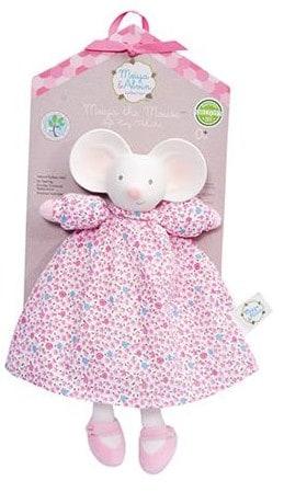 mertex meiya de muis knijp  en bijtknuffeltje wit roze 25 cm 2 204553