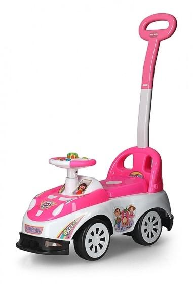 milly mally ride on bravo loopwagen fast junior roze wit 290554 1556527488