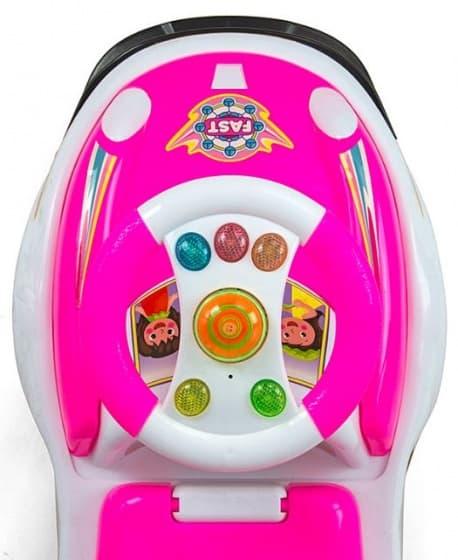 milly mally ride on bravo loopwagen fast junior roze wit 2 290554 1556527488