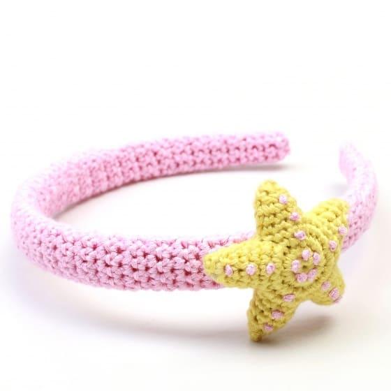naturezoo haarband ster roze geel 333469 1573391192