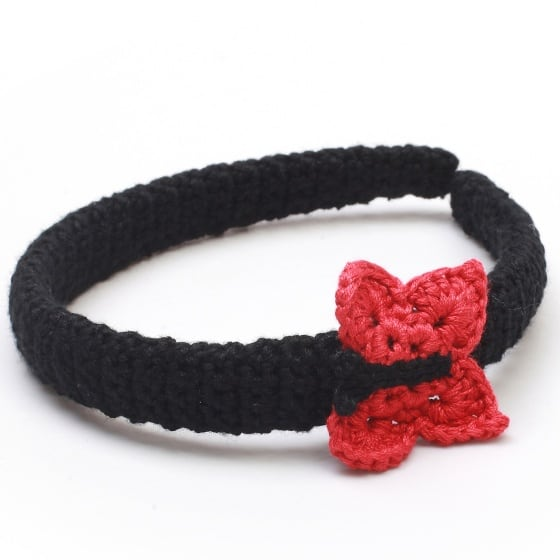 naturezoo haarband vlinder zwart rood 333456 1573389506