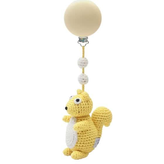 naturezoo kinderwagenhanger eekhoorn 20 cm geel 339861 1575280171