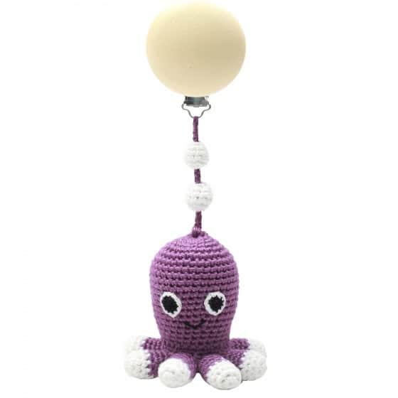 naturezoo kinderwagenhanger octopus 20 cm paars 339955 1575286018