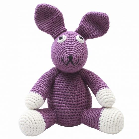 naturezoo knuffeldier konijn gehaakt 20 cm paars 332915 1573201157