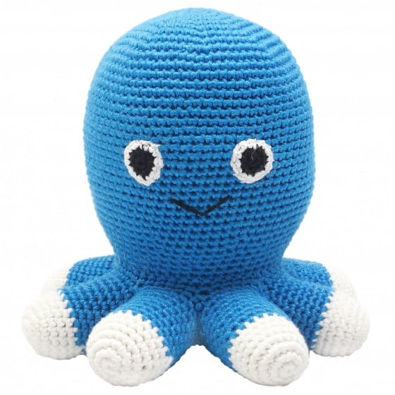 naturezoo knuffeldier octopus gehaakt 20 cm blauw 332947 1573202983