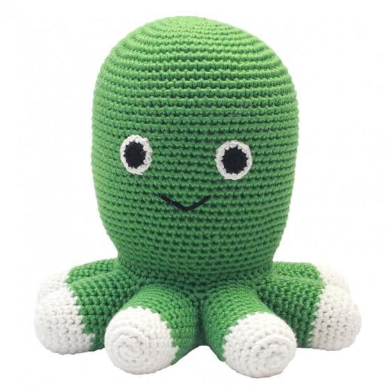 naturezoo knuffeldier octopus gehaakt 20 cm groen 332899 1573199956