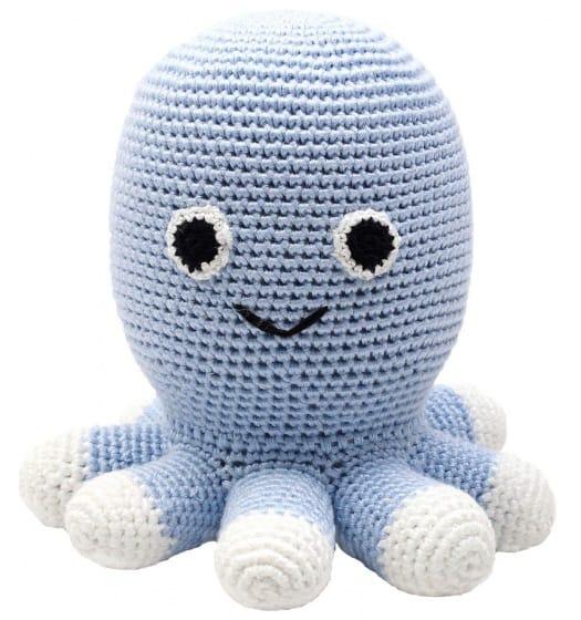naturezoo knuffeldier octopus gehaakt 20 cm lichtblauw 332952 1573203261