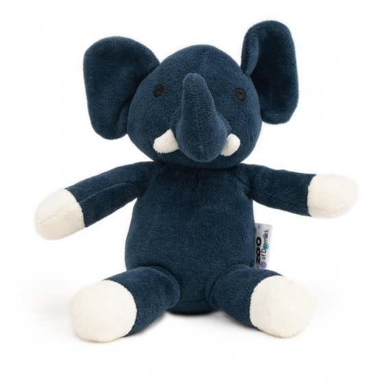 naturezoo knuffeldier olifant velours 18 cm donkerblauw 333549 1573458558