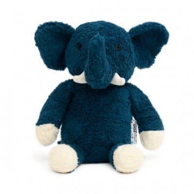 naturezoo knuffeldier olifant xl biologisch 30 cm donkerblauw 333528 1573457016