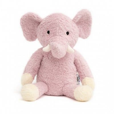 naturezoo knuffeldier olifant xl biologisch 30 cm roze 333531 1573457172