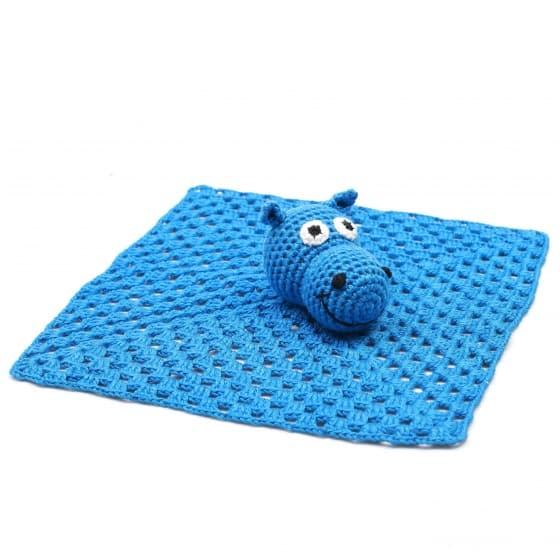 naturezoo knuffeldoekje nijlpaard gehaakt 10 cm donkerblauw 333206 1573225790