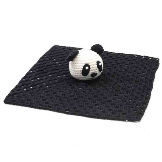 naturezoo knuffeldoekje panda gehaakt 10 cm zwart 333211 1573226016