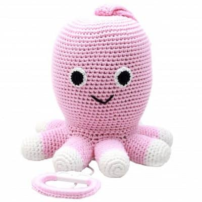 naturezoo muziekdoosje octopus gehaakt 20 cm roze 339383 1575101341