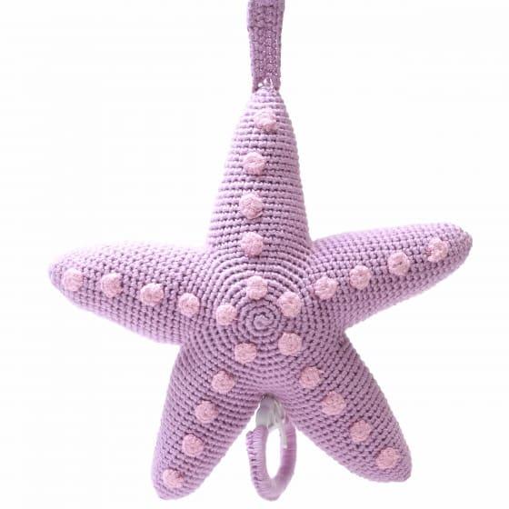 naturezoo muziekdoosje zeester gehaakt 20 cm lila 339355 1575099336