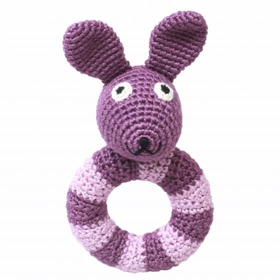 naturezoo ringrammelaar konijn gehaakt 14 cm paars 333096 1573215583
