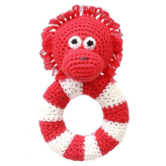 naturezoo ringrammelaar orang oetan gehaakt 14 cm rood 333090 1573215480