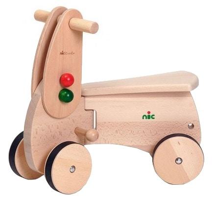 nic loopwagen combicar scooter hout 26 cm bruin 357653 1580210678