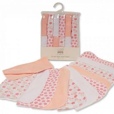 nursery time badset bloemen 12 delig wit roze 348678 1578039812