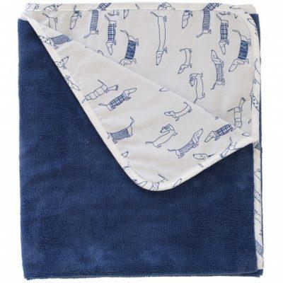 pericles babydeken hond 100 x 75 cm blauw 337718 1574427757